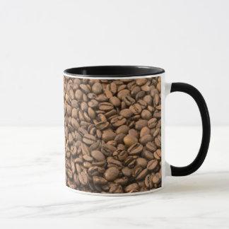 Granos de café taza