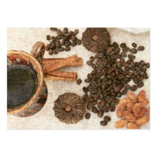 Granos de café y tarjeta del ATC del café Tarjetas De Visita Grandes