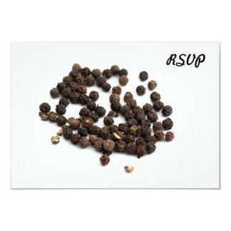 """Granos de la pimienta negra invitación 3.5"""" x 5"""""""
