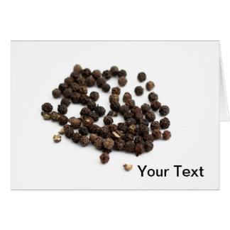 Granos de la pimienta negra tarjeta pequeña