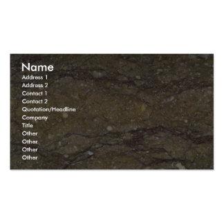 Granos que fluyen de la roca sólido tarjetas de visita