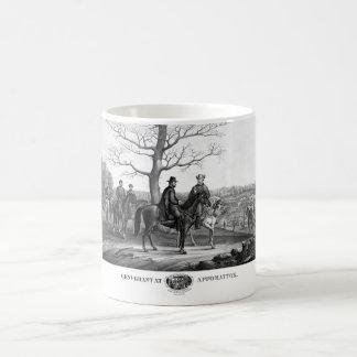 Grant And Lee At Appomattox -- Civil War Coffee Mug