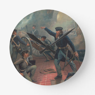 Grant at the Capture of the City of Mexico Leutze Round Wall Clock
