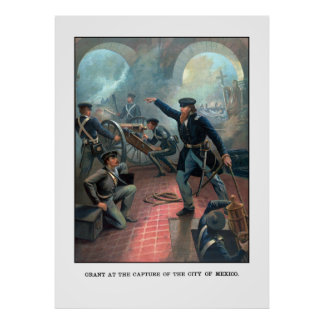 Grant At The Capture Of The City Of Mexico Print