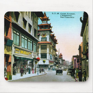 Grant Avenue Chinatown Mouse Pad