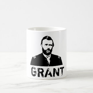 Grant -- Black and White Coffee Mug