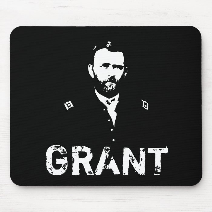 Grant -- Black and White Mouse Pad
