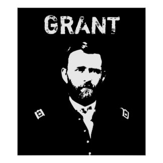 Grant -- Black and White Poster