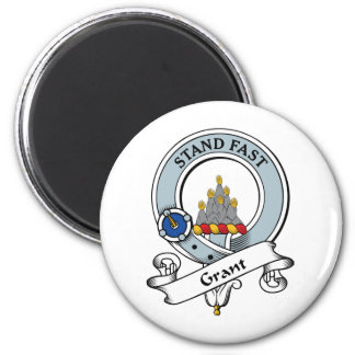 Grant Clan Badge 2 Inch Round Magnet