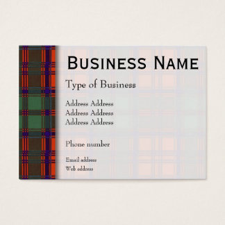 Grant clan Plaid Scottish tartan Business Card