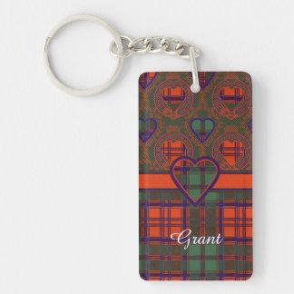 Grant clan Plaid Scottish tartan Keychain