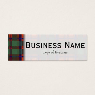 Grant clan Plaid Scottish tartan Mini Business Card