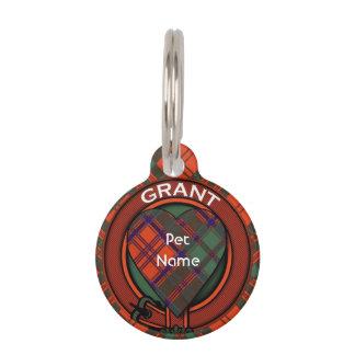 Grant clan Plaid Scottish tartan Pet Name Tag