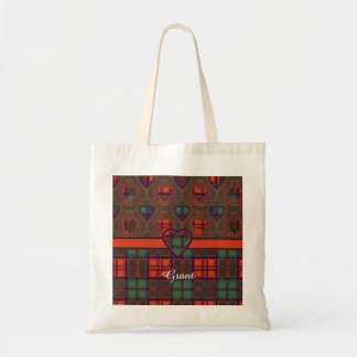 Grant clan Plaid Scottish tartan Tote Bag