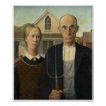 Grant DeVolson Wood American Gothic Posters