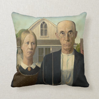 Grant DeVolson Wood American Gothic Throw Pillow