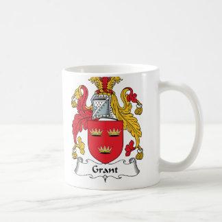 Grant Family Crest Classic White Coffee Mug
