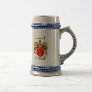 GRANT FAMILY CREST -  GRANT COAT OF ARMS BEER STEIN