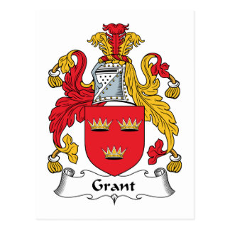 Grant Family Crest Postcard