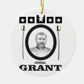 grant in oval with swords ceramic ornament