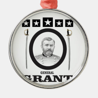 grant in oval with swords metal ornament