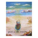 """grant me the serenity..."" - art print postcard."