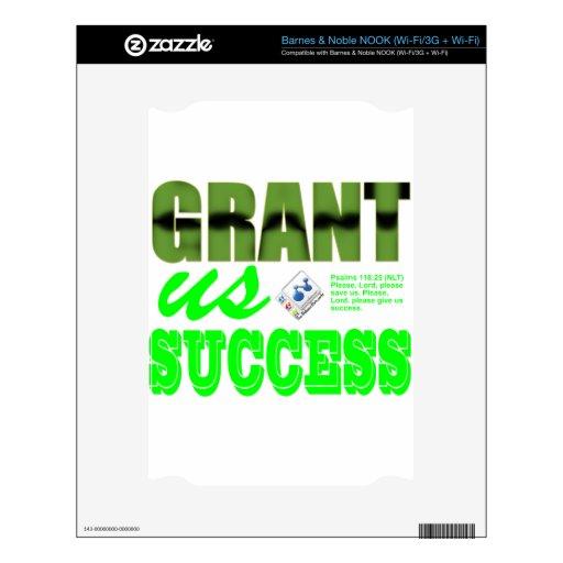 Grant nosotros éxito skins para NOOK