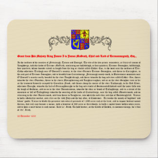 Grant of Title from King James I - Mouse Mat / Pad Mouse Pad