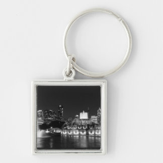 Grant Park Chicago Grayscale Keychain