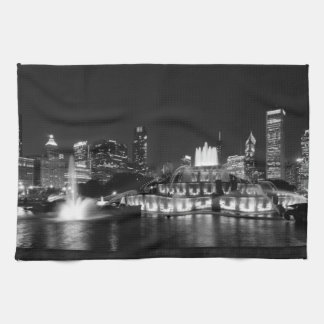 Grant Park Chicago Grayscale Kitchen Towel