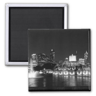 Grant Park Chicago Grayscale Magnet