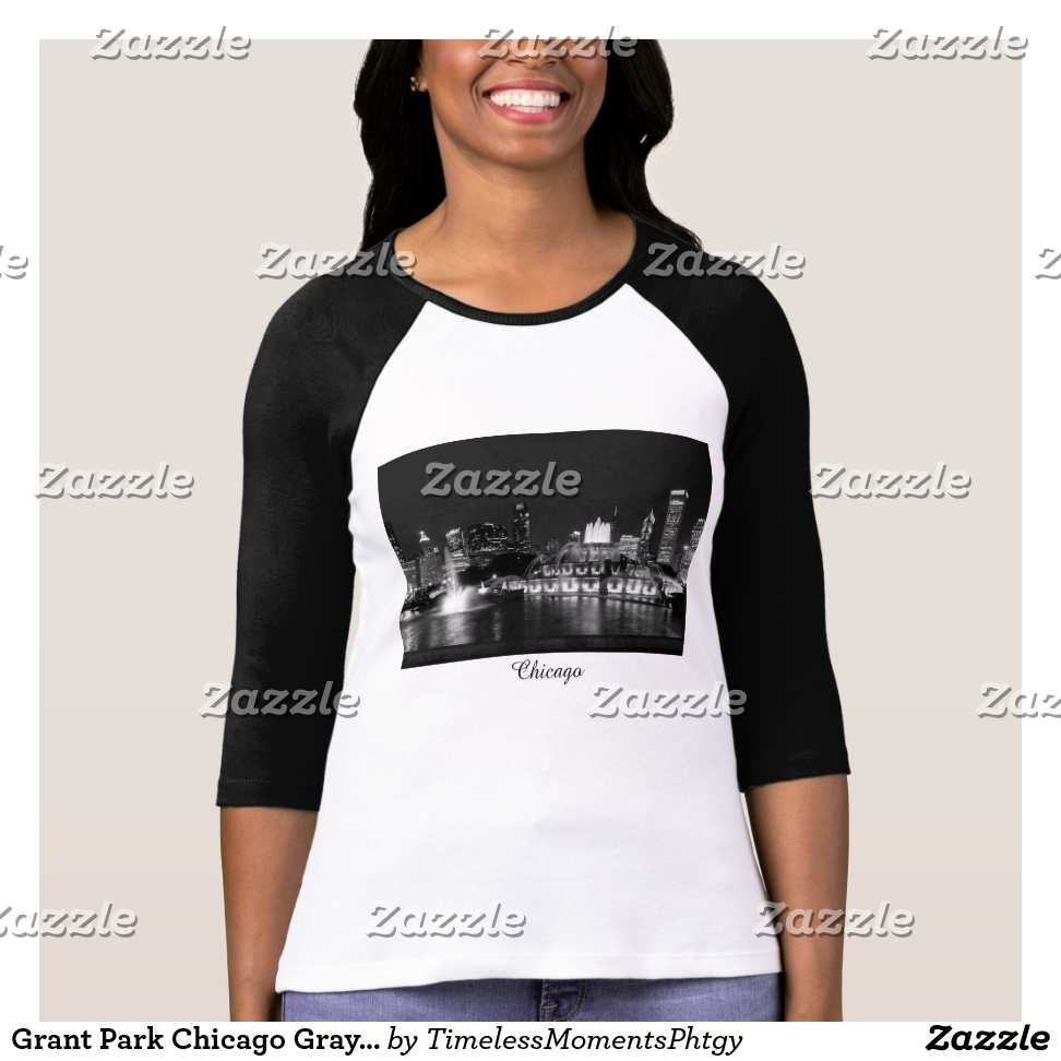 Grant Park Chicago Grayscale T-Shirt - Best Selling Long-Sleeve Street Fashion Shirt Designs