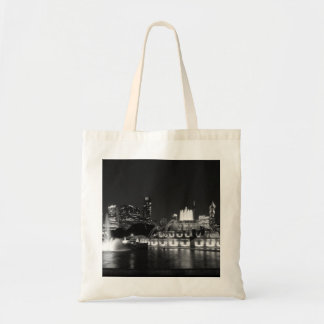Grant Park Chicago Grayscale Tote Bag