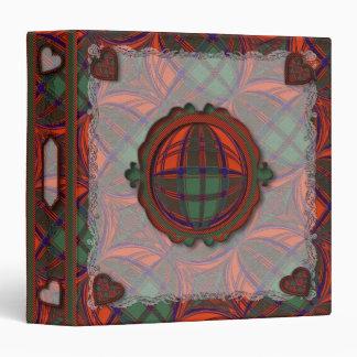 Grant Scottish clan tartan - Plaid 3 Ring Binder
