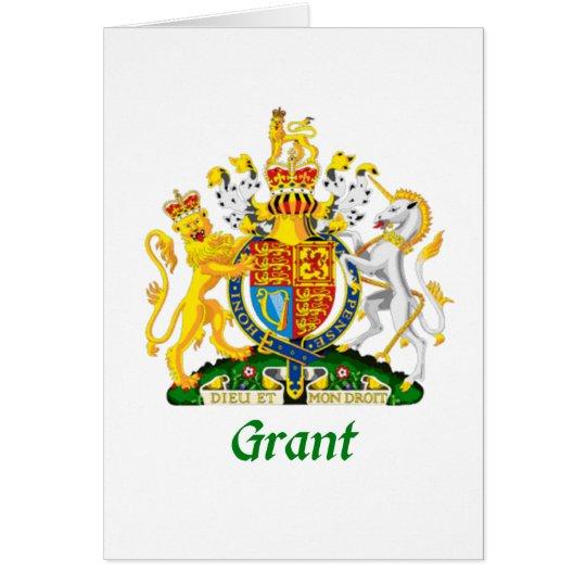 Grant Shield of Great Britain Card