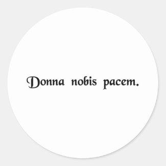 Grant us peace. classic round sticker
