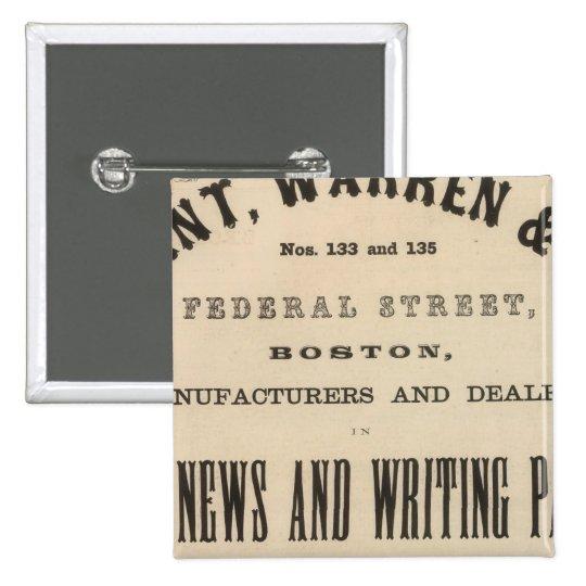 Grant, Warren y Company Pin Cuadrado