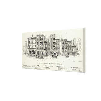 Grant West side Post and Sutter Canvas Print