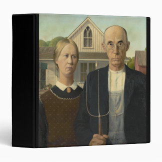 GRANT WOOD - American gothic 1930 3 Ring Binder