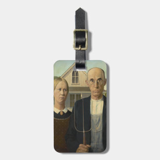 GRANT WOOD - American gothic 1930 Bag Tag