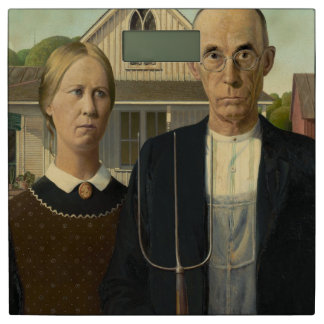 GRANT WOOD - American gothic 1930 Bathroom Scale