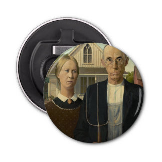 GRANT WOOD - American gothic 1930 Bottle Opener