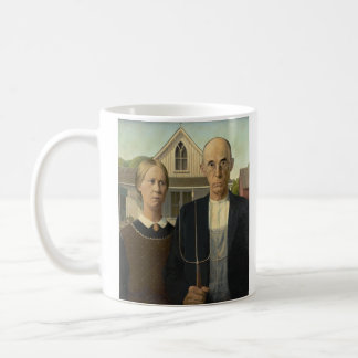GRANT WOOD - American gothic 1930 Coffee Mug