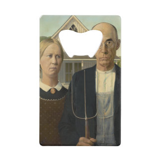 GRANT WOOD - American gothic 1930 Credit Card Bottle Opener