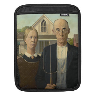 GRANT WOOD - American gothic 1930 iPad Sleeve