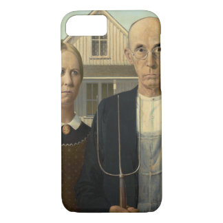 GRANT WOOD - American gothic 1930 iPhone 8/7 Case