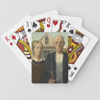 GRANT WOOD - American gothic 1930 Playing Cards