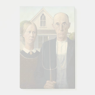 GRANT WOOD - American gothic 1930 Post-it Notes