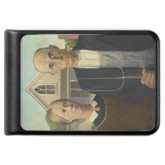 GRANT WOOD - American gothic 1930 Power Bank