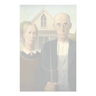 GRANT WOOD - American gothic 1930 Stationery